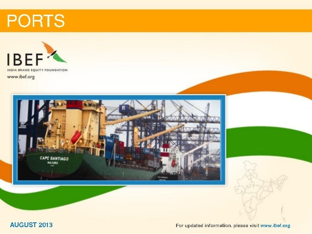 India :Ports Sector Report_August 2013
