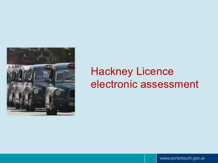 Portsmouth hackney licence electronic assessment