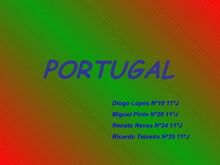PORTUGAL Diogo Lopes Nº10 11ºJ Miguel Pinto Nº20 11ºJ Renato Neves Nº24 11ºJ Ricardo Teixeira Nº25 11ºJ