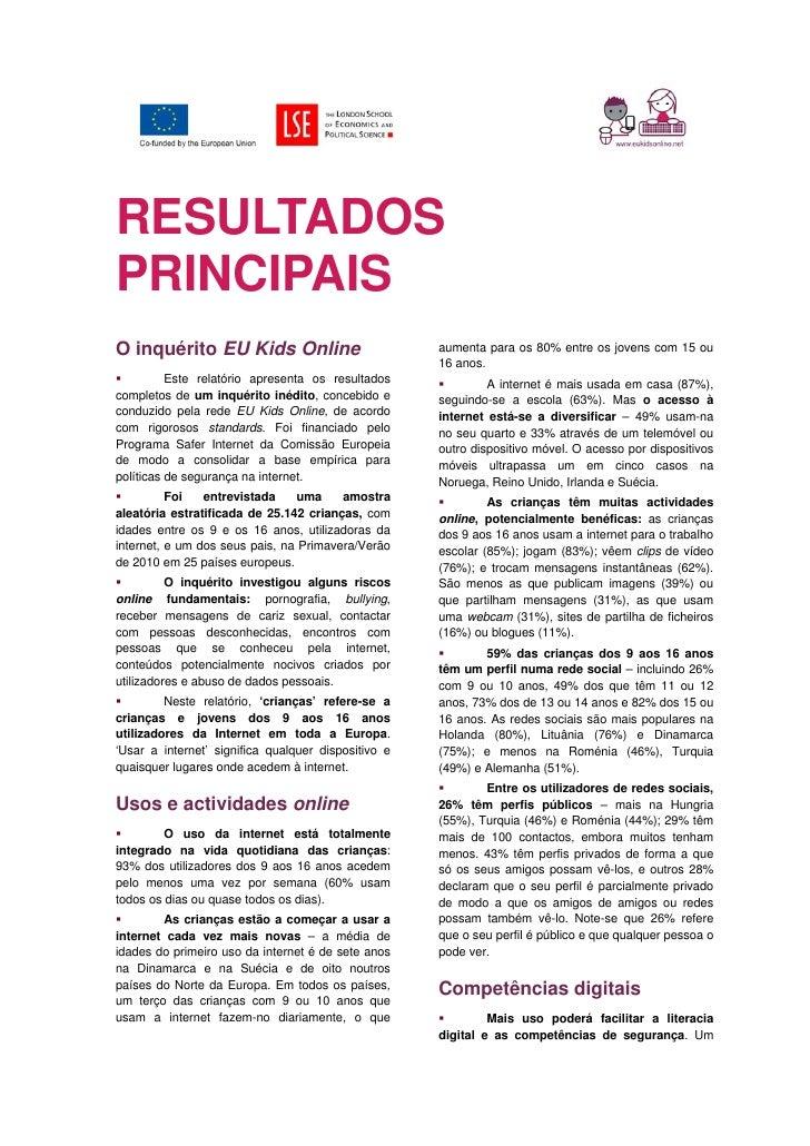 Portugal eukids perigos internet 2011