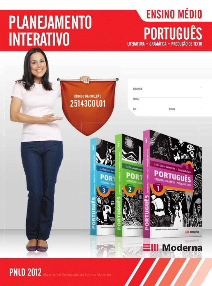 Portugues - Literatura, Gramatica e Producao de Texto - planejamento interativo