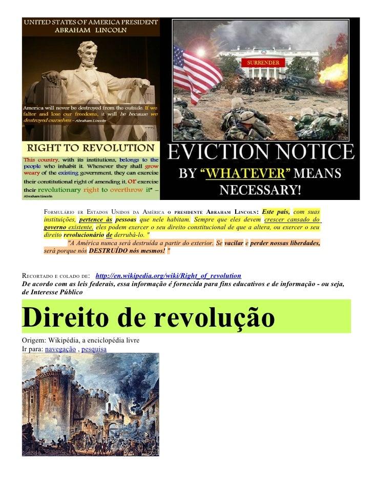 FORMULÁRIO ER ESTADOS UNIDOS DA AMÉRICA O PRESIDENTE ABRAHAM LINCOLN: Este país, com suas       instituições, pertence às ...