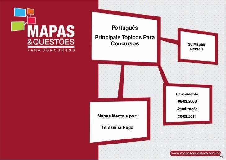 PortuguêsPrincipais Tópicos Para      Concursos                38 Mapas                                Mentais            ...