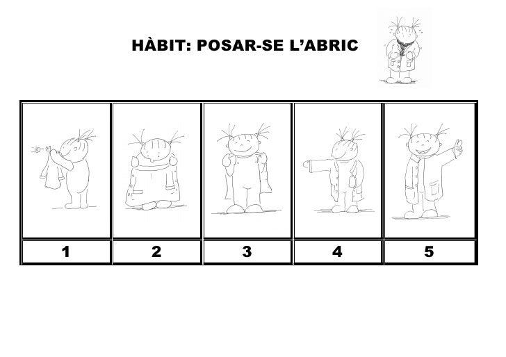 HÀBIT: POSAR-SE L'ABRIC1     2        3        4     5