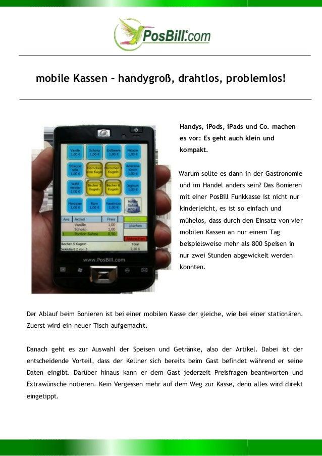 mobile Kassen – handygroß, drahtlos, problemlos! Handys, iPods, iPads und Co. machen es vor: Es geht auch klein und kompak...