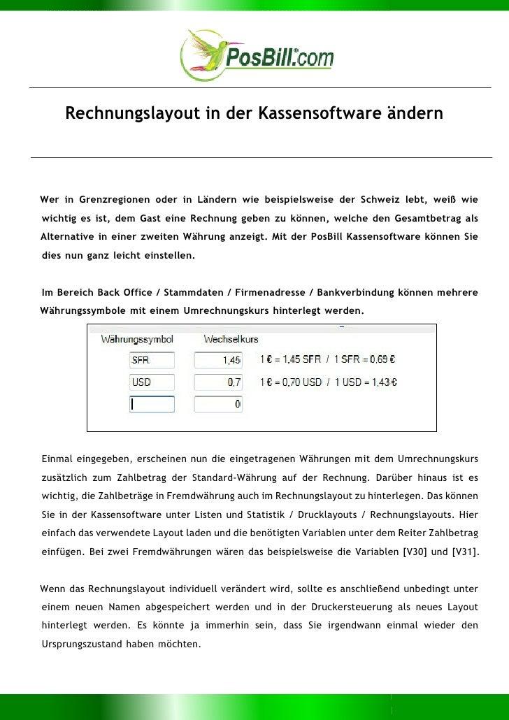 Rechnungslayout in der Kassensoftware ändernWer in Grenzregionen oder in Ländern wie beispielsweise der Schweiz lebt, weiß...