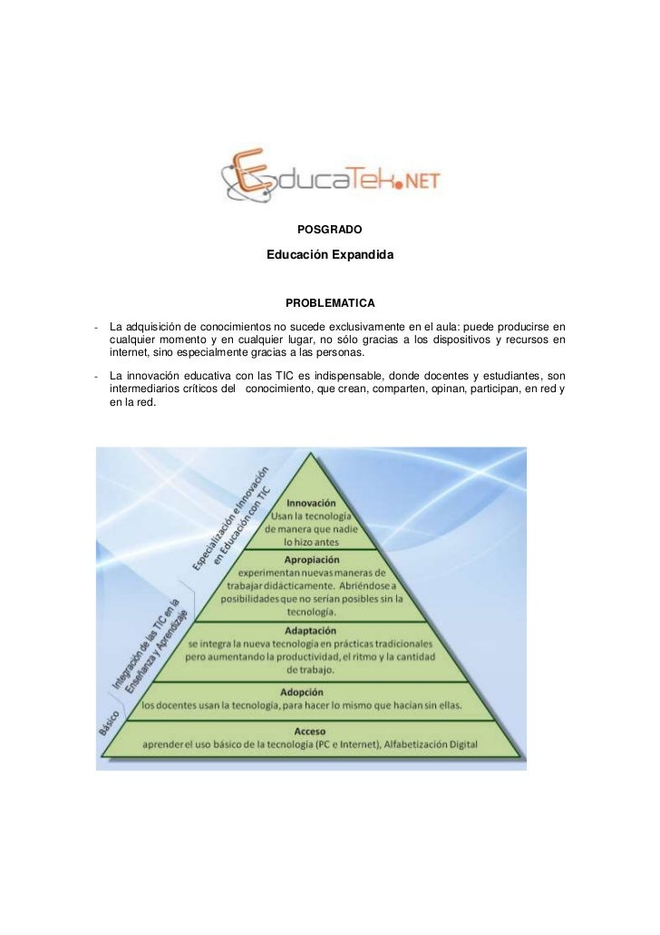 POSGRADO                                   Educación Expandida                                       PROBLEMATICA-   La ad...