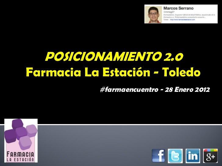 #farmaencuentro - 28 Enero 2012