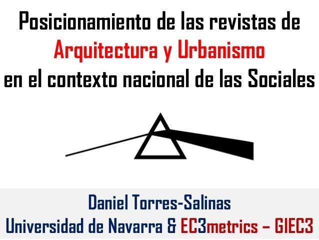 Posicionamiento de las revistas de arquitectura y urbanismo