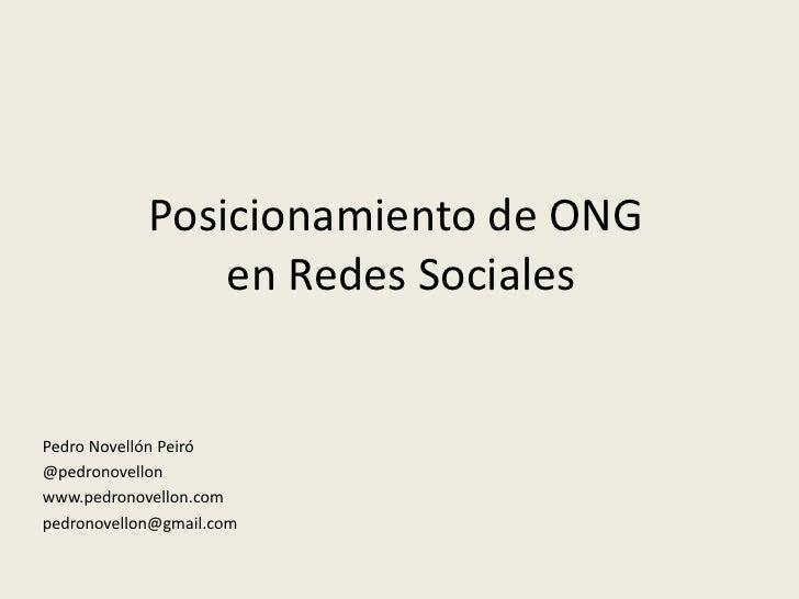 Posicionamiento en redes sociales para ong