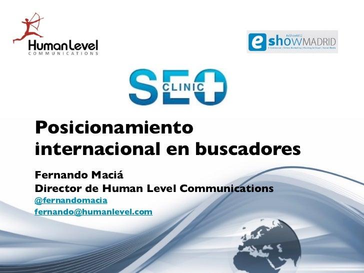 Posicionamiento internacional en buscadores 2012