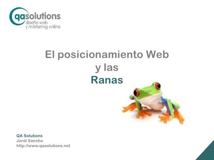 El Posicionamiento Web y las Ranas