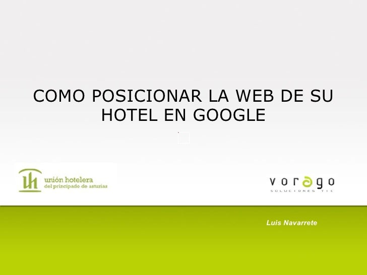 Como posicionar la web de su hotel en google