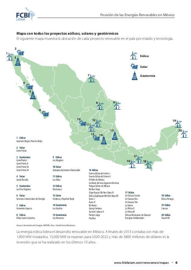 Energia Renovable Mexico Renovables en México Mapa