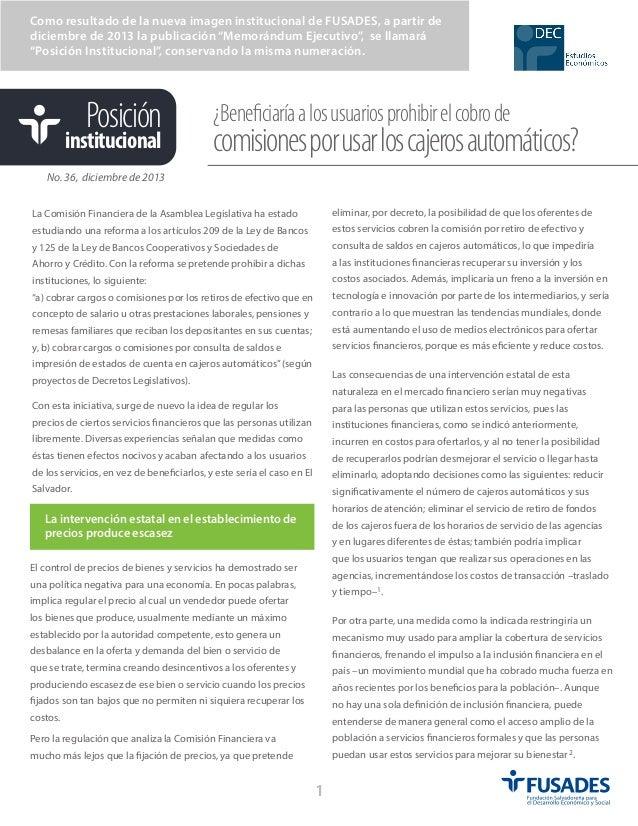 """Como resultado de la nueva imagen institucional de FUSADES, a partir de diciembre de 2013 la publicación """"Memorándum Ejecu..."""