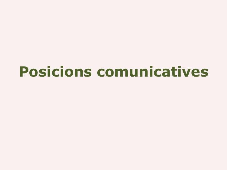 Posicions comunicatives
