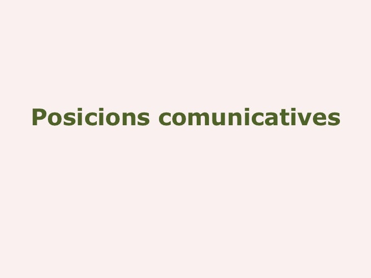 Posicions comunicatives