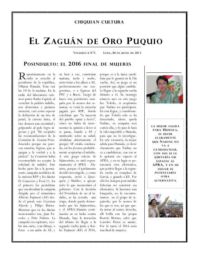 Pos indulto 2016 final de mujeres