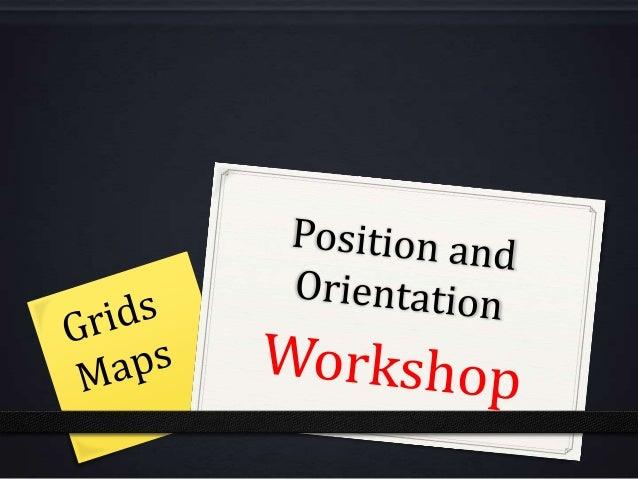 Position and orientation workshop