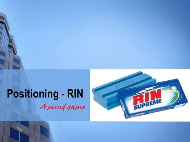 Positioning - RIN A mind game
