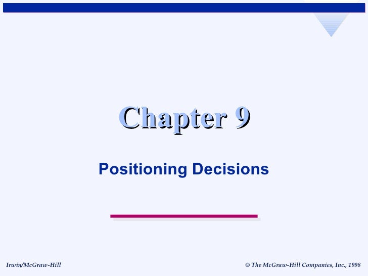 Chapter 9 Positioning Decisions