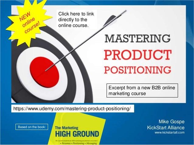 The secret ingredient for any integrated marketing program Mike Gospe KickStart Alliance www.kickstartall.com Based on the...