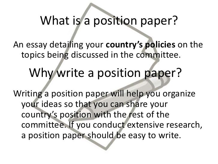 topics to write a position paper on