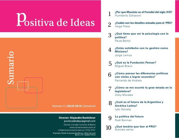 Positiva de Ideas Número 3