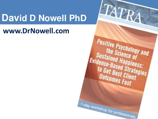 Positive Psychology and the Science of Sustained Happiness