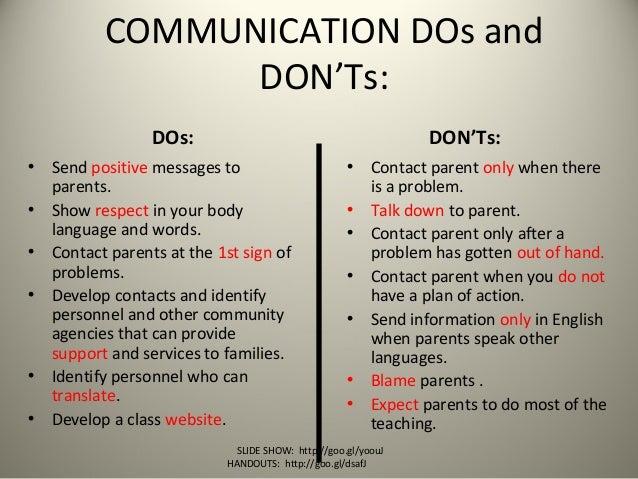 Positive And Effective Parent Communication Nto 8 26 13