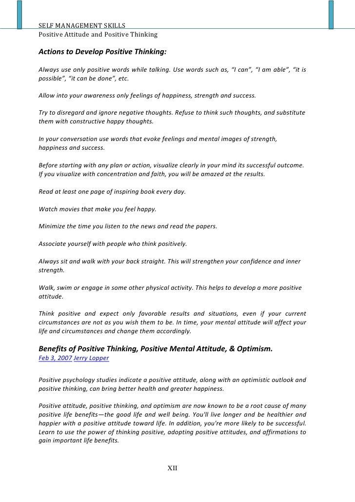 Essay Positive Thinking