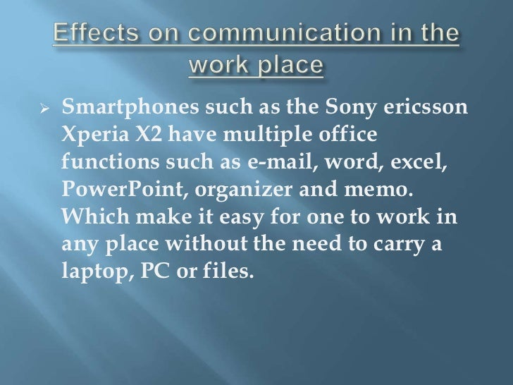 Cause and effect essay on smartphones and the effect theyve had on society?