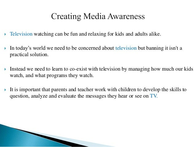 positive influence of television on children essay The influence of television on children the influence television has on children essay whether it is a positive or negative happening, children.