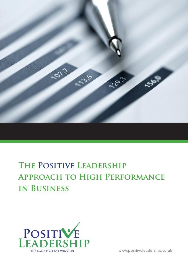 Positive Leadership Brochure