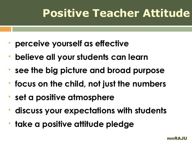 Essays On Positive Attitude