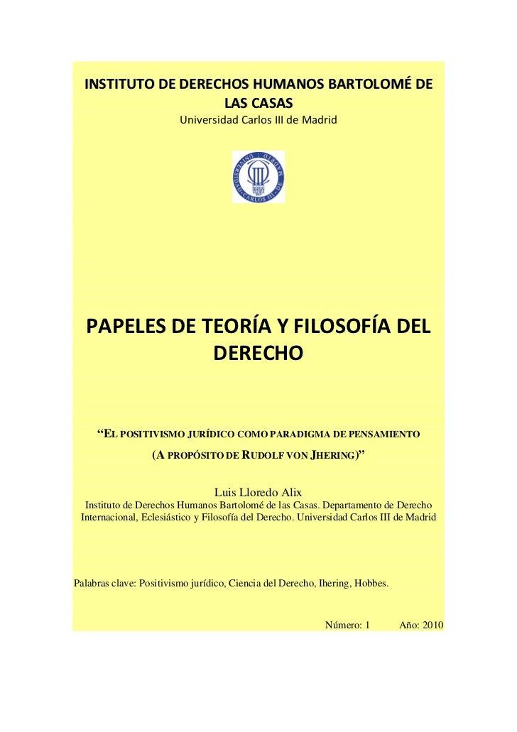INSTITUTO DE DERECHOS HUMANOS BARTOLOMÉ DE                    LAS CASAS                         Universidad Carlos III de ...