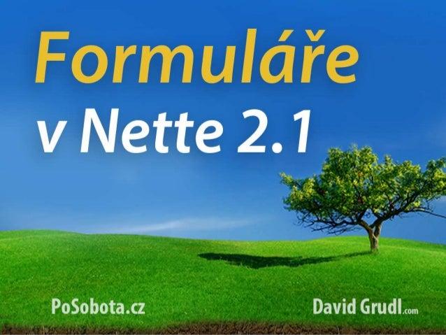 Poslední Sobota - Formuláře v Nette 2.1
