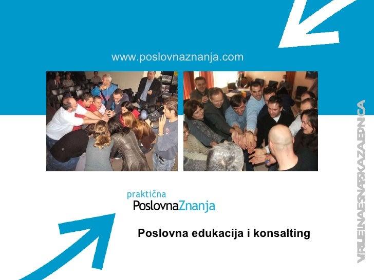 www.poslovnaznanja.com virtuelna esnafska zajednica Poslovna edukacija i konsalting