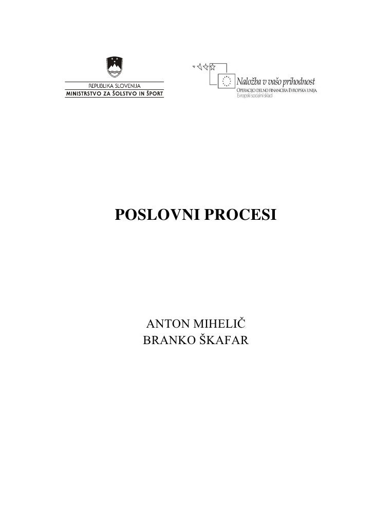 Poslovni Procesi Mihelic Skafar