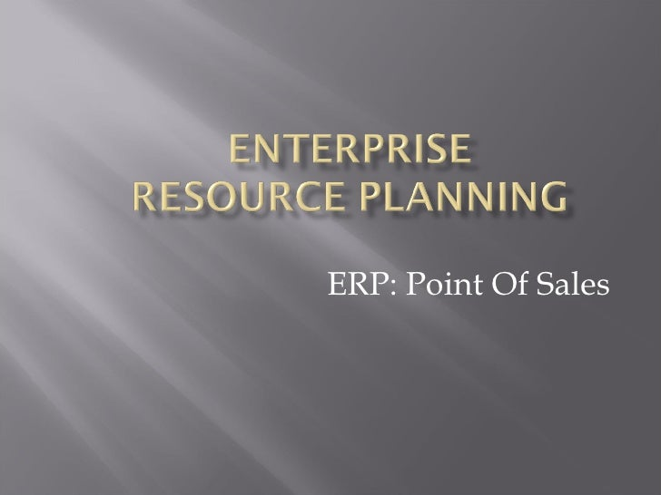 ERP: Point Of Sales