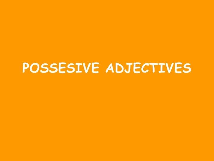 POSSESIVE ADJECTIVES