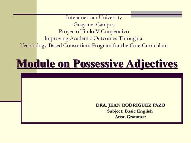 Interamerican University Guayama Campus Proyecto Titulo V Cooperativo Improving Academic Outcomes Through a Technology-Bas...