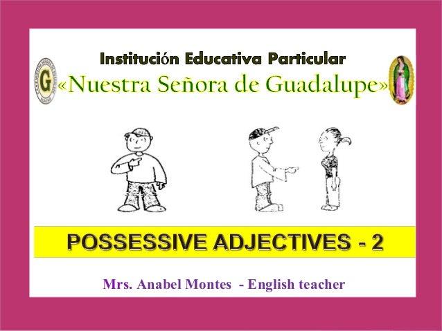 Possessive adjectives 1 ero
