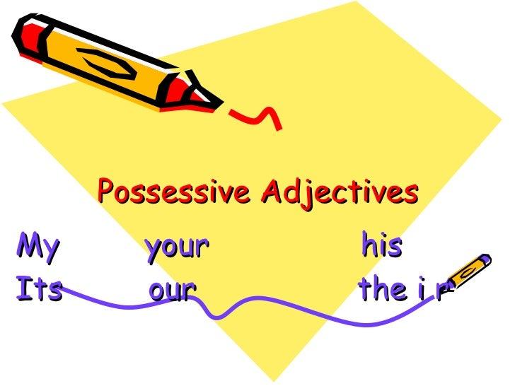 Possessive adjectives sunu