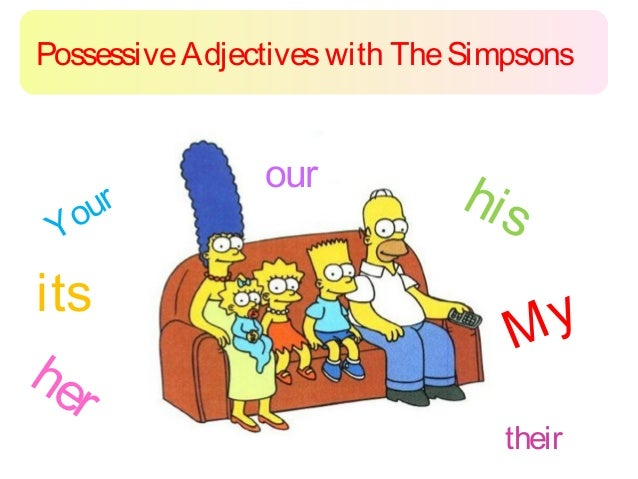 Possessive Adjectives with The Simpsons                our   our                        hi s Yits                         ...