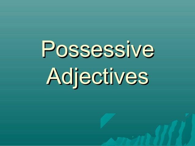 PossessiveAdjectives