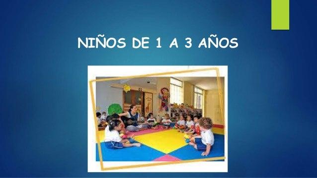 NIÑOS DE 1 A 3 AÑOS