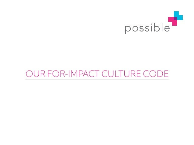 Possible's For-Impact Culture Code