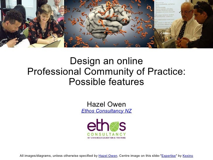 Design an online Professional Community of Practice: Possible features Hazel Owen Ethos Consultancy NZ All images/diagrams...