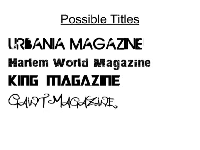 Possible titles